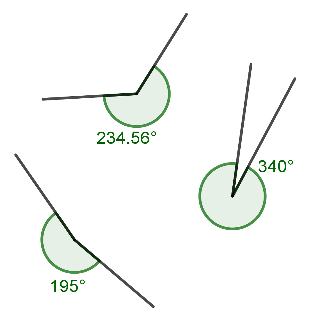 Home School Math How To Draw A Reflex Angle That Measures