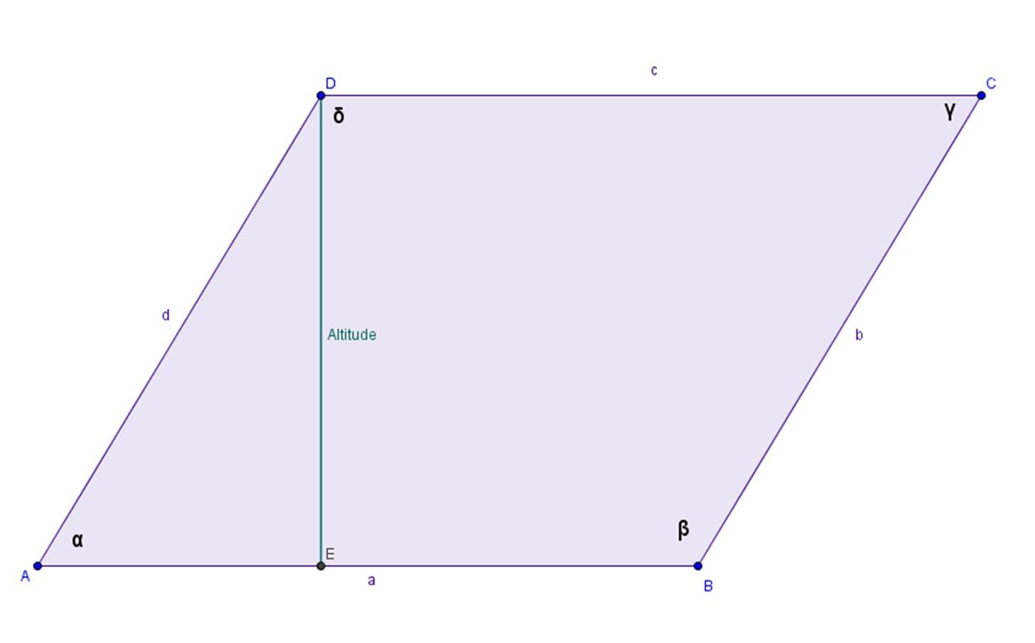 Altitude Of Parallelogram