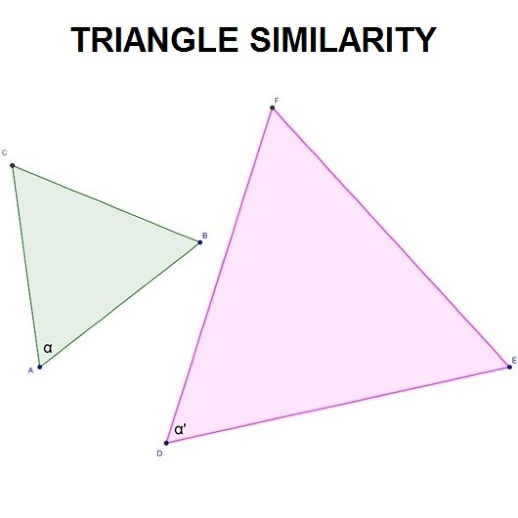 hight resolution of Triangle similarity theorems