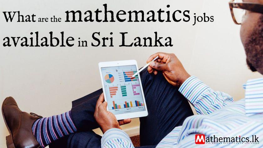 mathematics jobs available in Sri Lanka