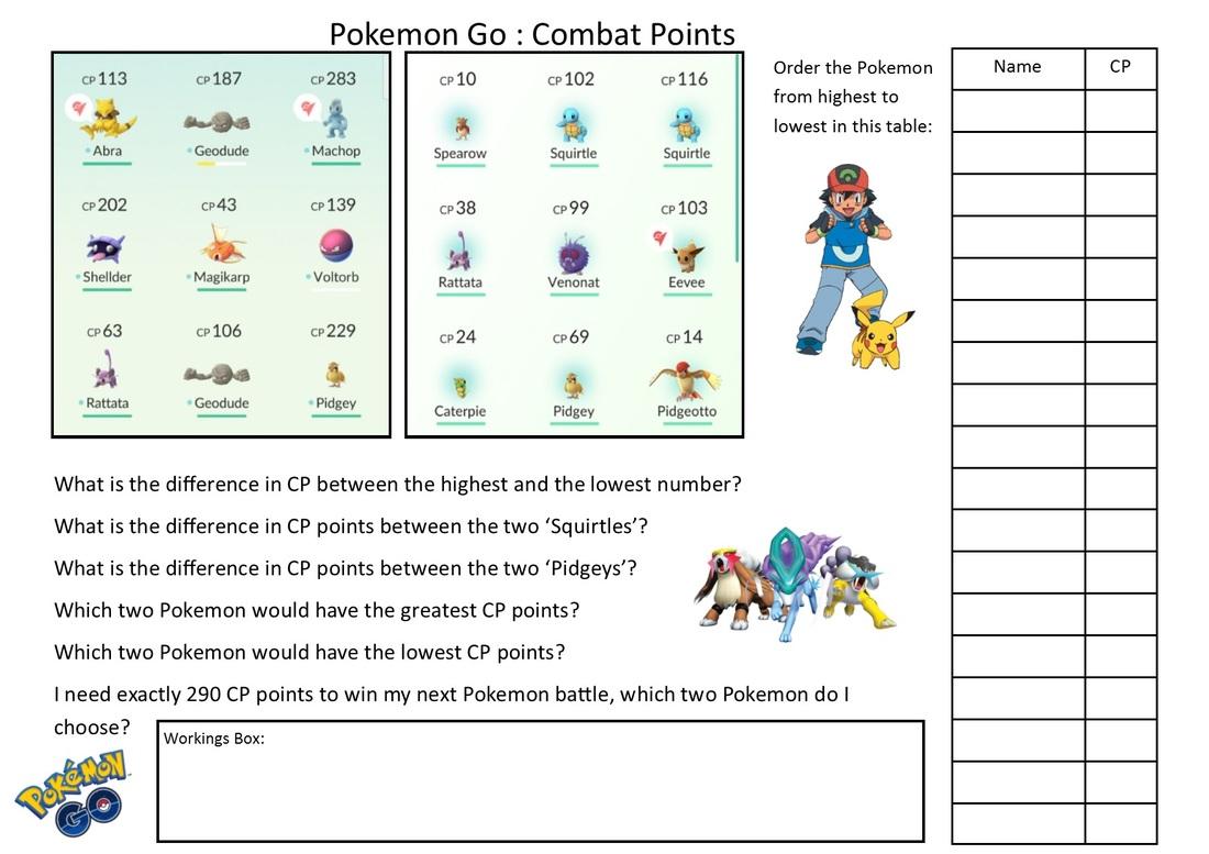 The Best Pokemon Math Worksheets Printable