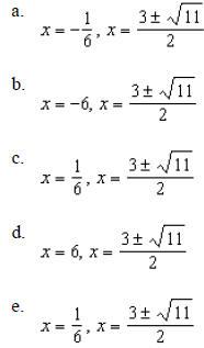 Precalculus Chapter 3 Quiz