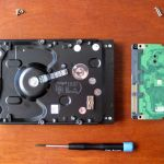 Hard disk with board removed