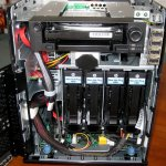 Front internal view of the NAS