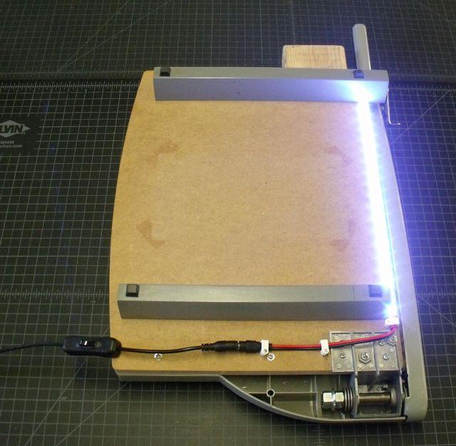 LED lighting strip KIT for paper trimmer