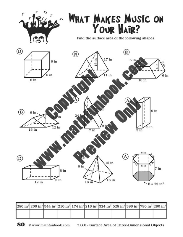 Volume Of 3 Dimensional Figures Worksheets