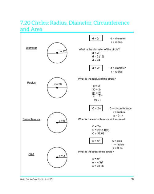 small resolution of Circumference Radius Diameter Worksheets   Printable Worksheets and  Activities for Teachers