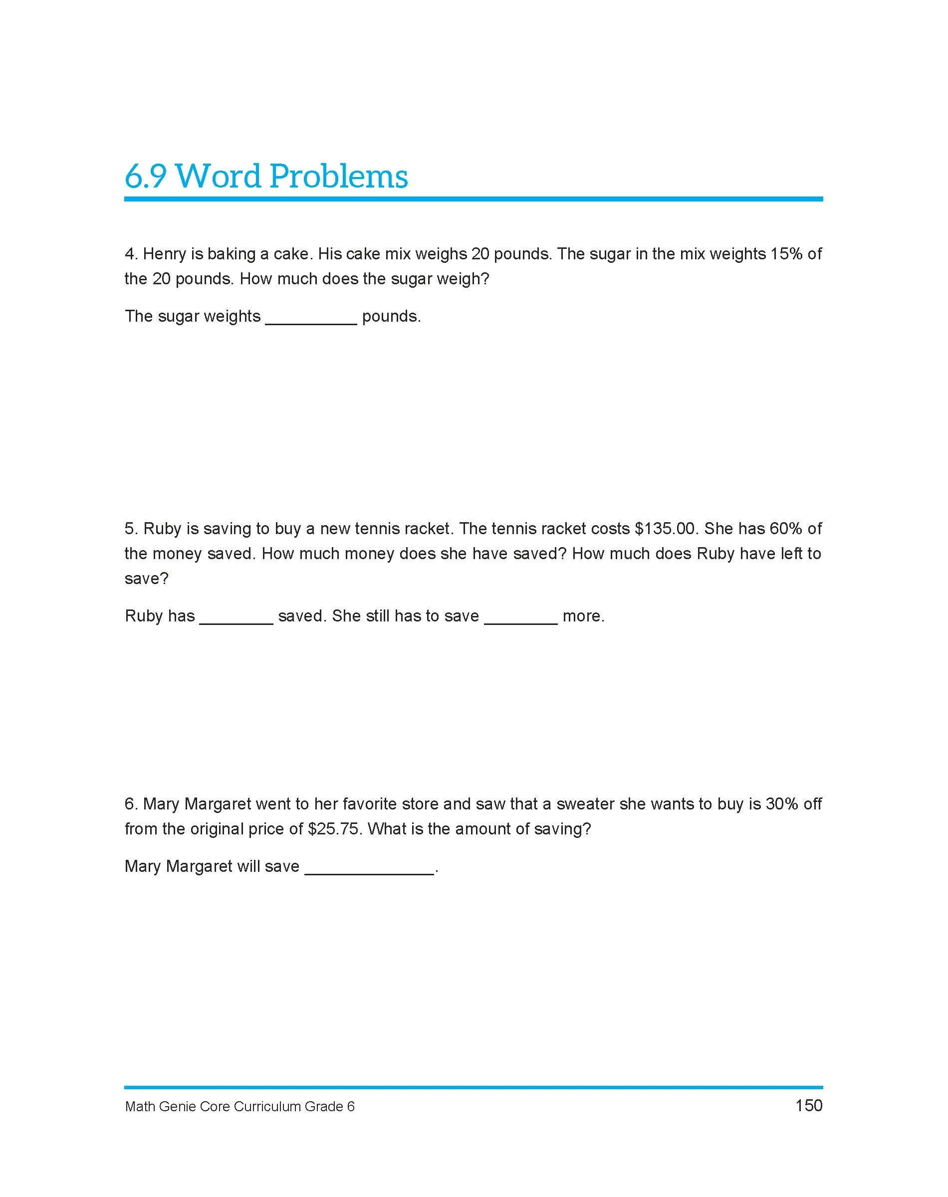 Sixth Grade Course Amp Sample Lessons Math Genie Common Core