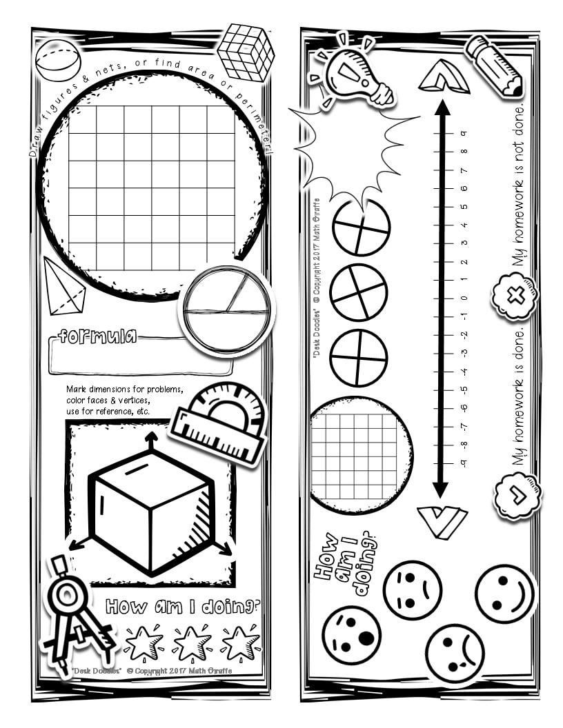 Math Desk Doodles