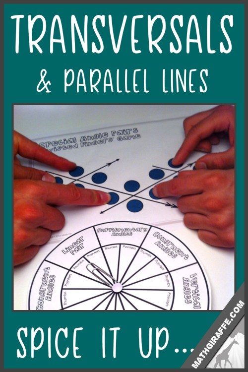 small resolution of Fun Activities for Parallel Line Theorems \u0026 Angle Pairs Along Transversals