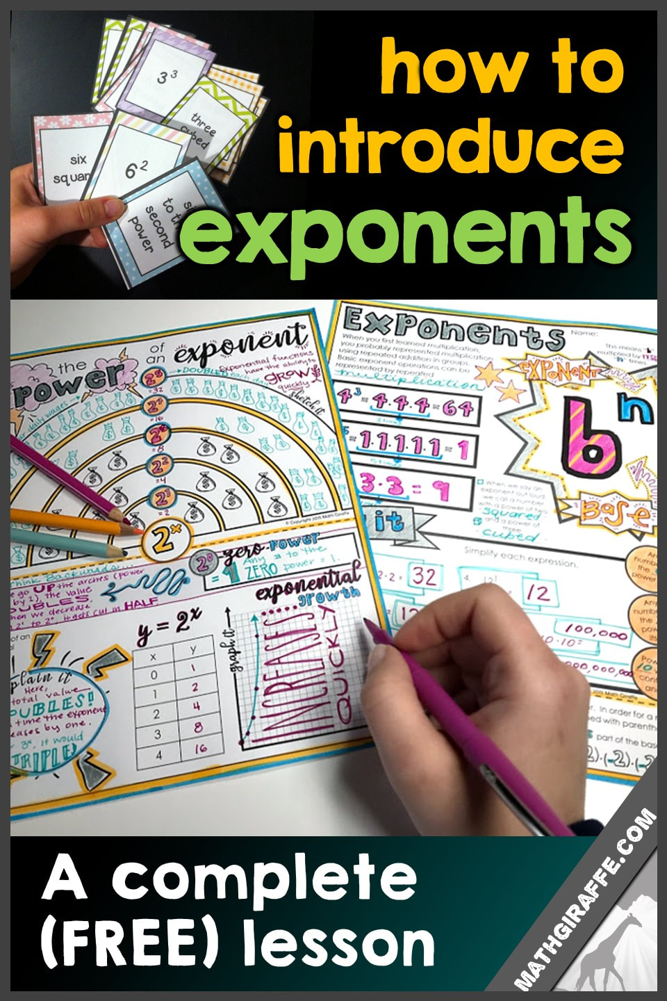 hight resolution of Introducing Exponents - a complete free lesson and stations