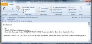 Outlook - Lesebsestätigung ungelesen gelöscht