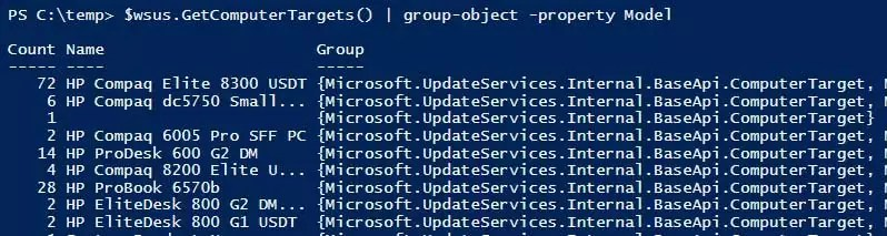 Wsus Powershell Get-Computertargets