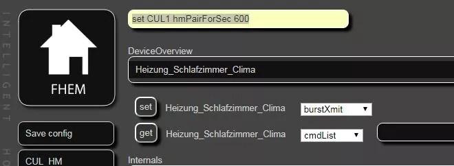 FHEM mit Homematic HM-CC-RT-DN pairen