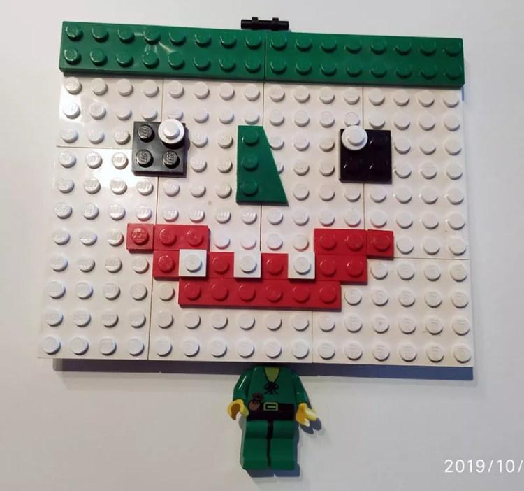 Eine freie Interpretation das Gesicht des Jokers mit Lego darzustellen von Papa.