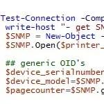 Artikelbild mit Powershell Drucker per SNMP abfragen