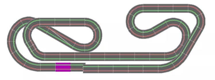 Streckenlayout Carrera Digital 1:32 /1:24 17.80m mit Spurlängenausgleich