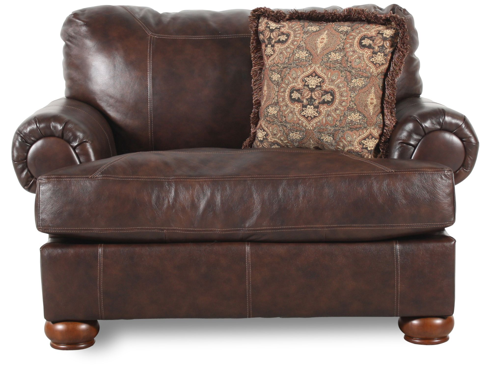 chair and a half leather recliner canoe chairs walmart traditional 55 quot in walnut