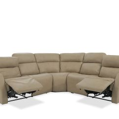 Light Brown Leather Reclining Sofa Wooden Legs South Africa Three Piece 107 Quot Power Sectional In