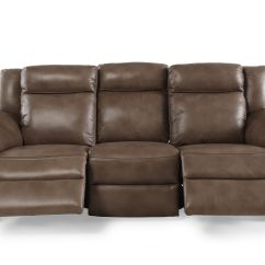 Modern Power Reclining Sofa White Leather Cleaner Products Contemporary 88 Quot In Nutmeg Brown