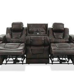 Power Reclining Sofa With Cup Holders Sets For Hall Leather 84 Quot Holder In Brown