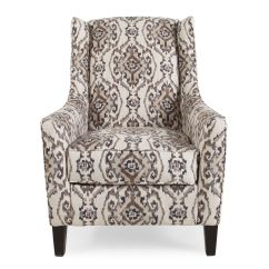 Patterned Living Room Chairs White Swivel Office Chair Traditional 29 Quot Accent In Cream Mathis