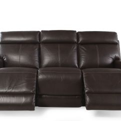 Modern Power Reclining Sofa Green Leather Uk Contemporary 82 Quot In Brown Mathis