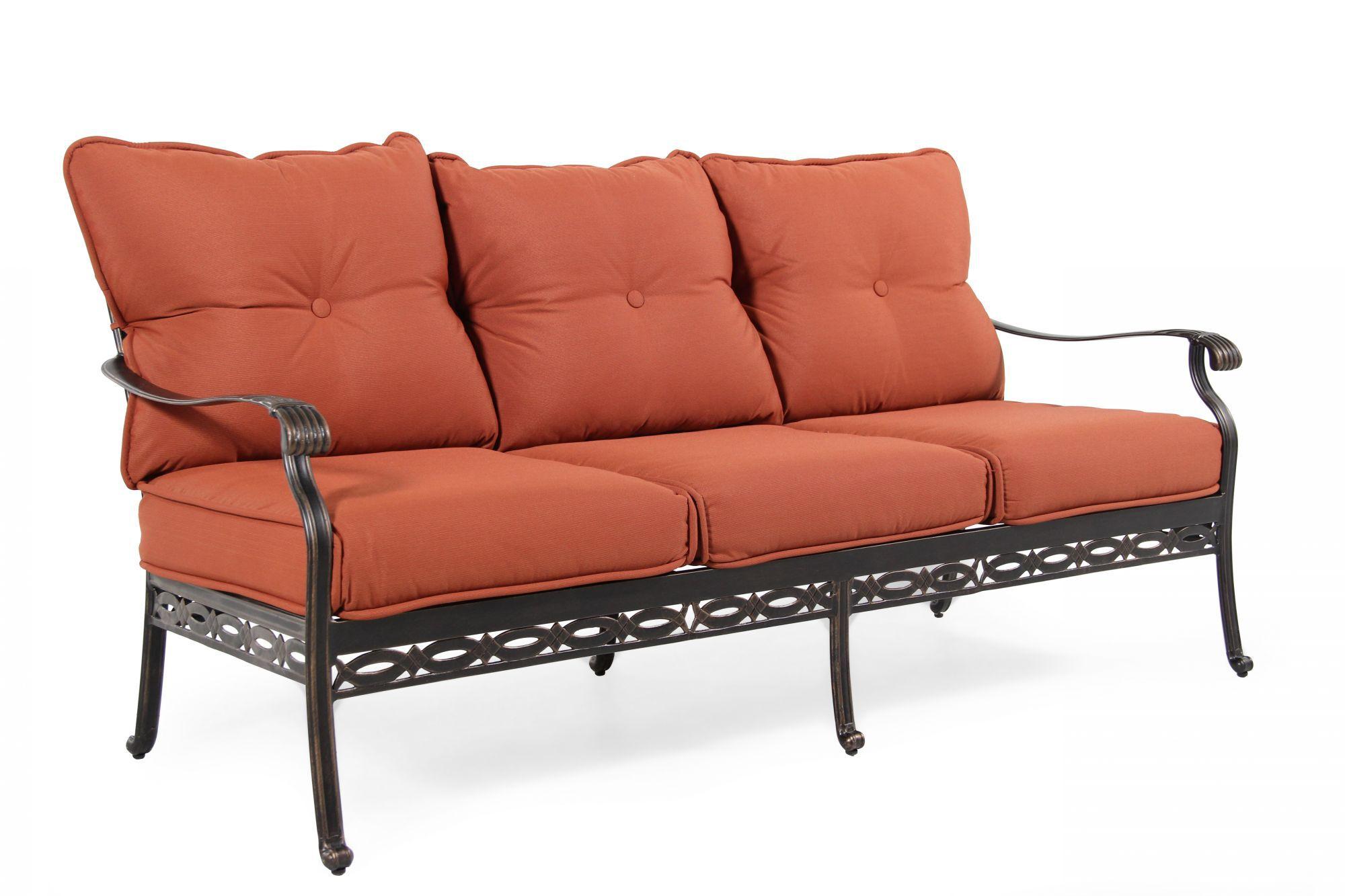 button tufted sofas ashley furniture levon charcoal sofa aluminum in orange mathis brothers