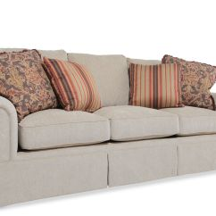 Rolled Arm Sofa Nz Hot Pink Slipcover Skirted In Light Brown Mathis Brothers