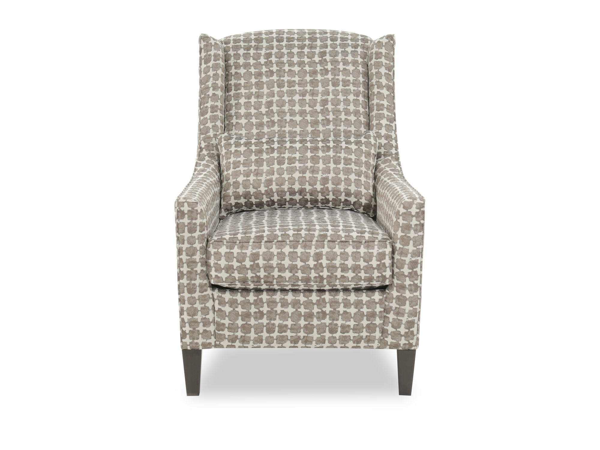 Patterned Contemporary 30 Wingback Accent Chair  Mathis
