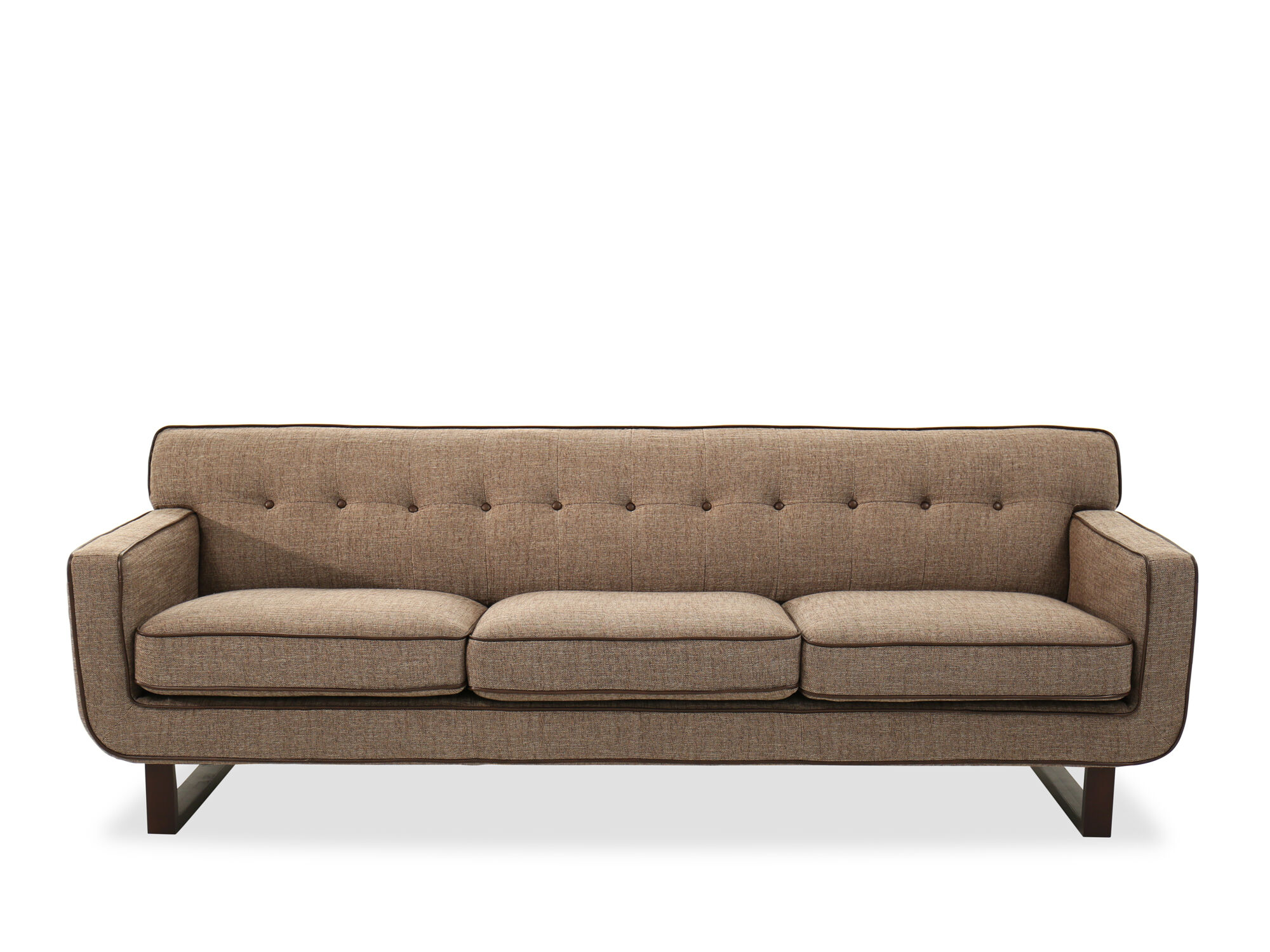 button tufted sofas upholstery sofa contemporary 91 quot in brown mathis
