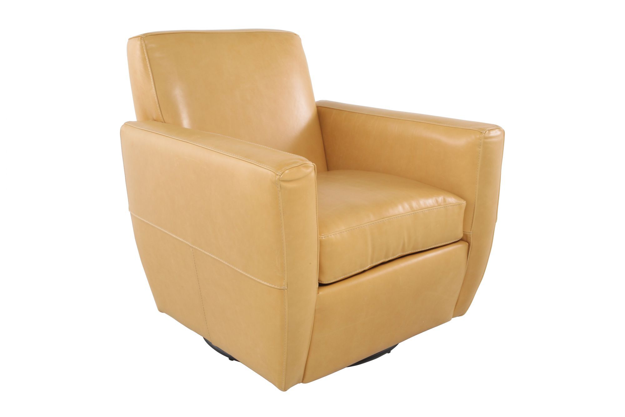 swivel chair vancouver best dorm room chairs leather in butterscotch mathis brothers