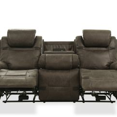 Grey Power Reclining Sofa Loveseat Sleeper Sears 87 5 Quot Leather In Mathis