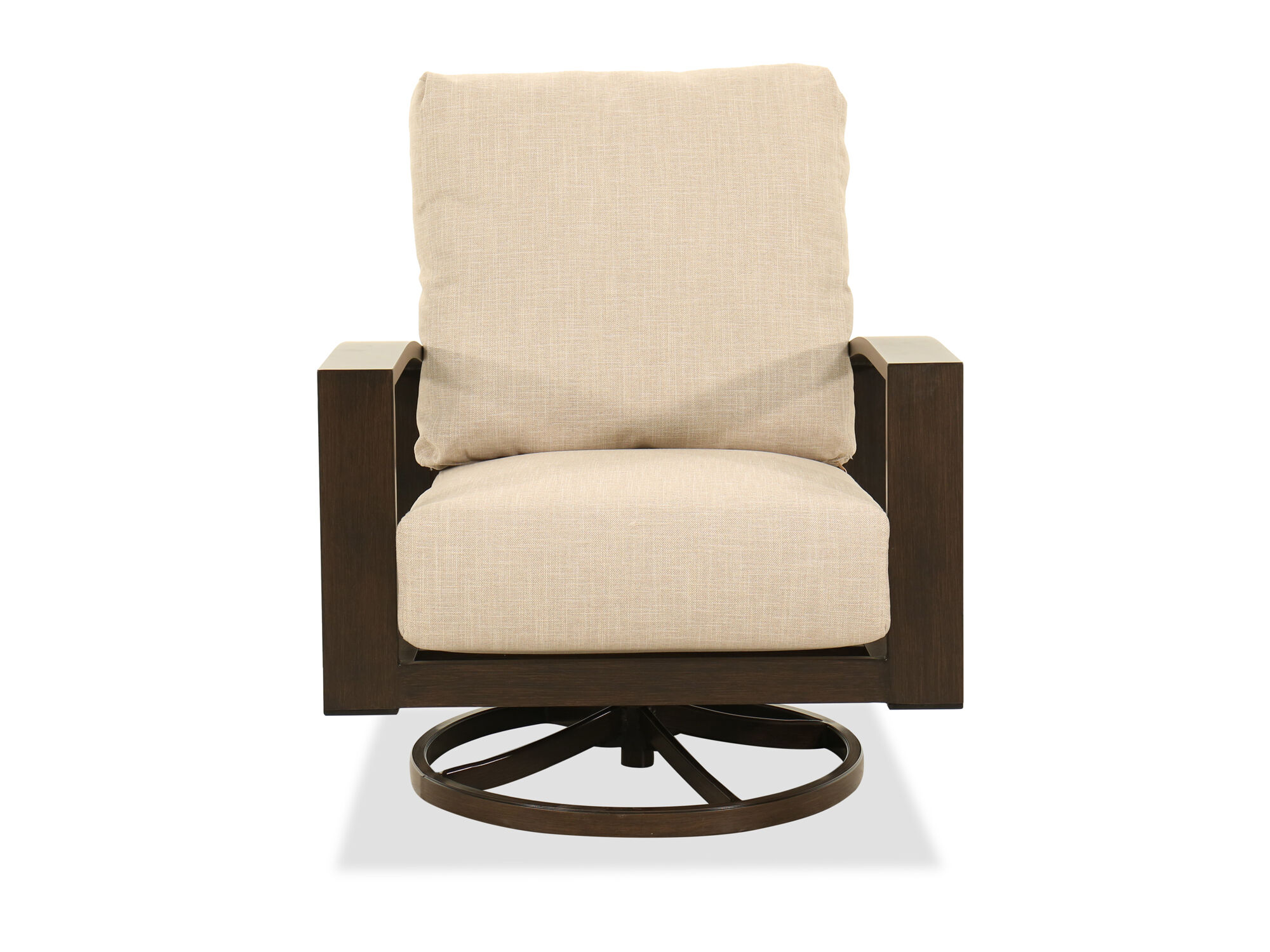 Aluminum Swivel Chair In Beige Mathis Brothers Furniture