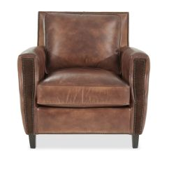Bernhardt Brown Leather Club Chair Grosfillex Madras Lounge Chairs Nailhead Trimmed 36 Quot In Mathis