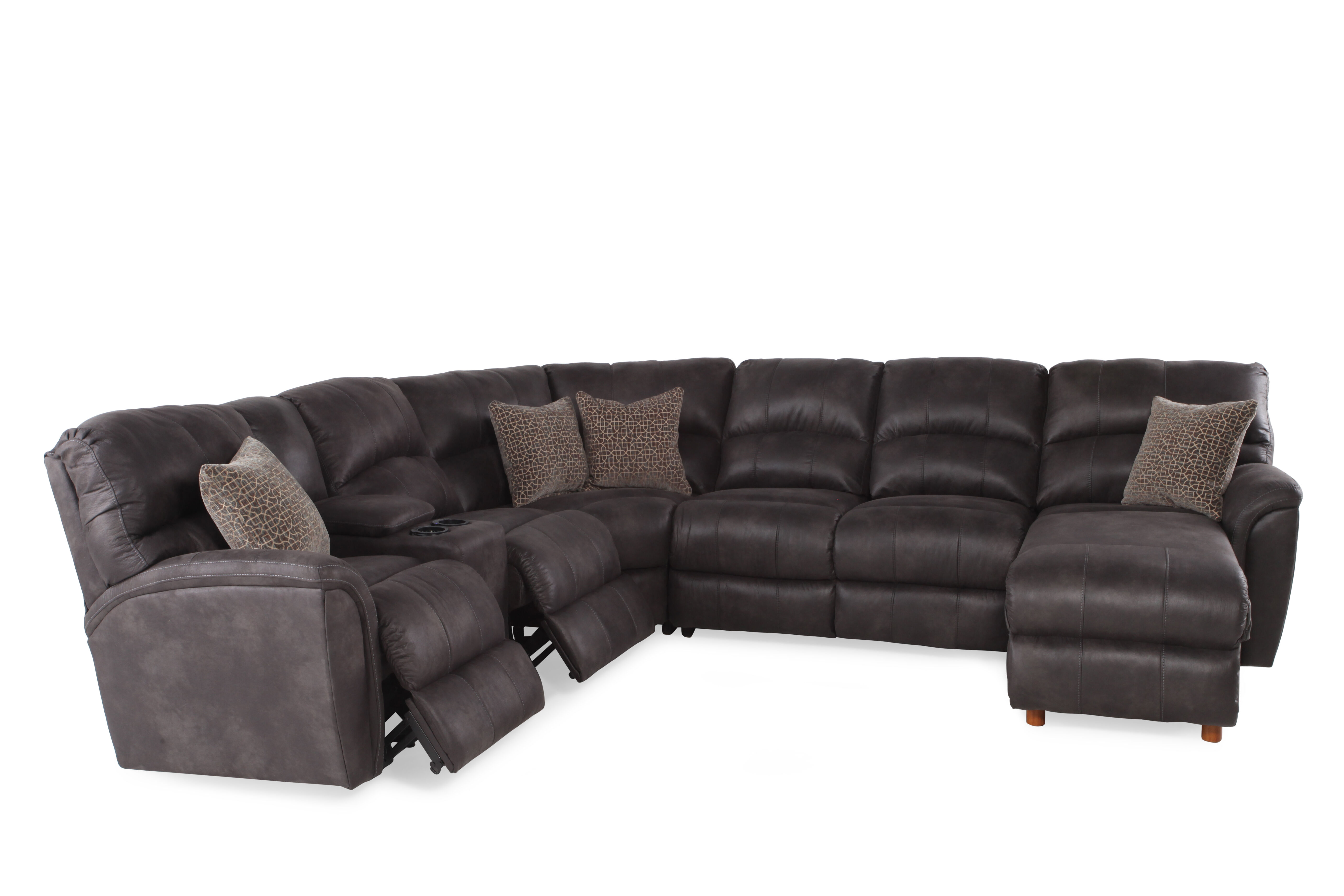 gray microfiber power reclining sofa wayfair and loveseat 118 quot sectional in mathis