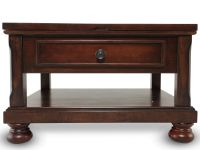 Lift-Top Traditional Cocktail Table in Brown Cherry ...