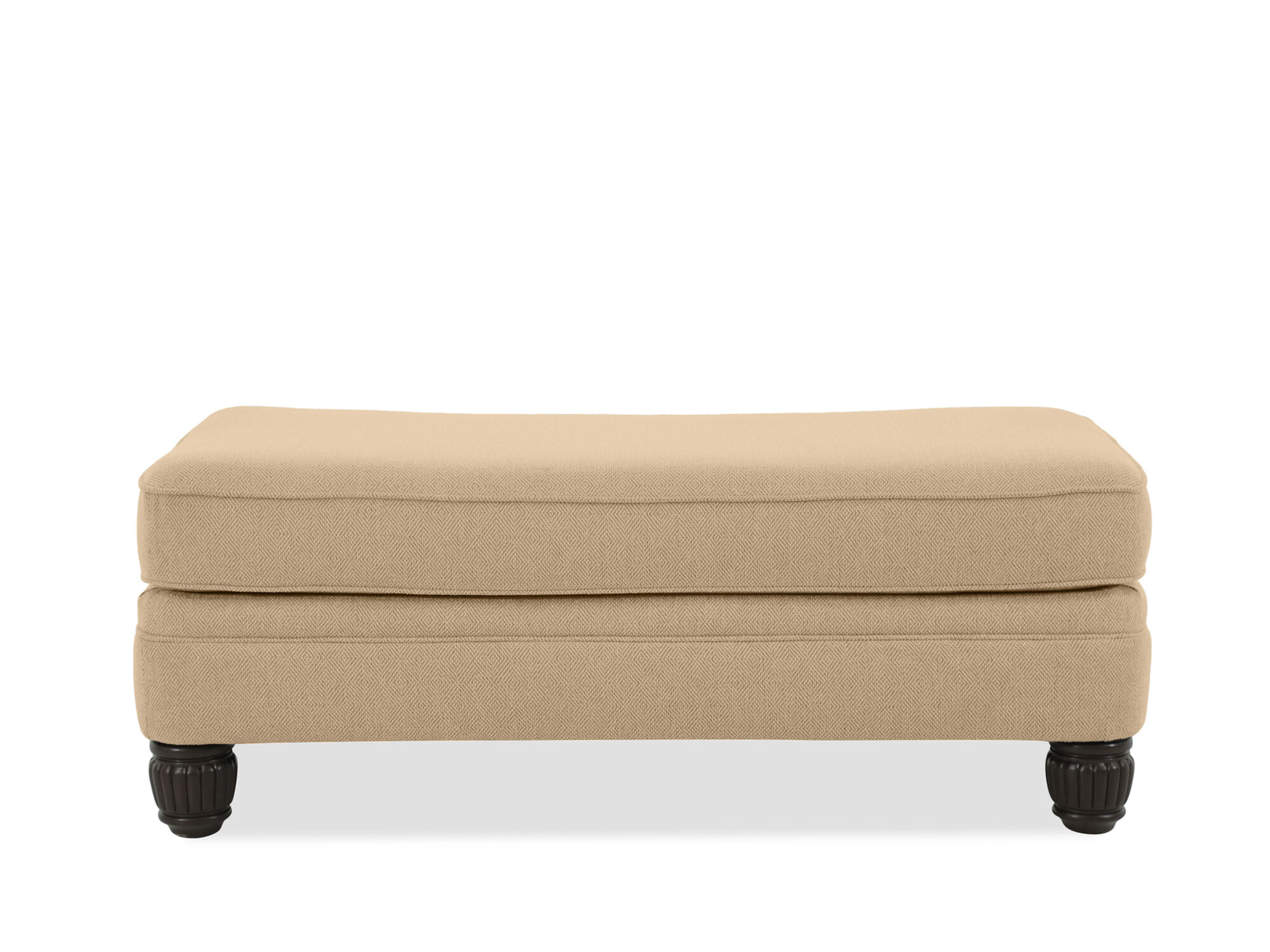 bernhardt walsh sofa home decorators collection table diamond textured casual 52 quot ottoman in beige mathis