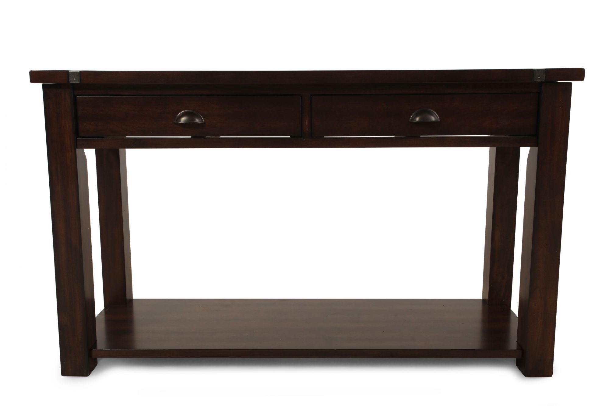 gl sofa tables contemporary suede brush two drawer table in brown mathis