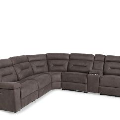 Furniture Stores Living Room Storage Unit Wicker Baskets Mathis Brothers Six Piece Microfiber 168 Quot Power Reclining Sectional