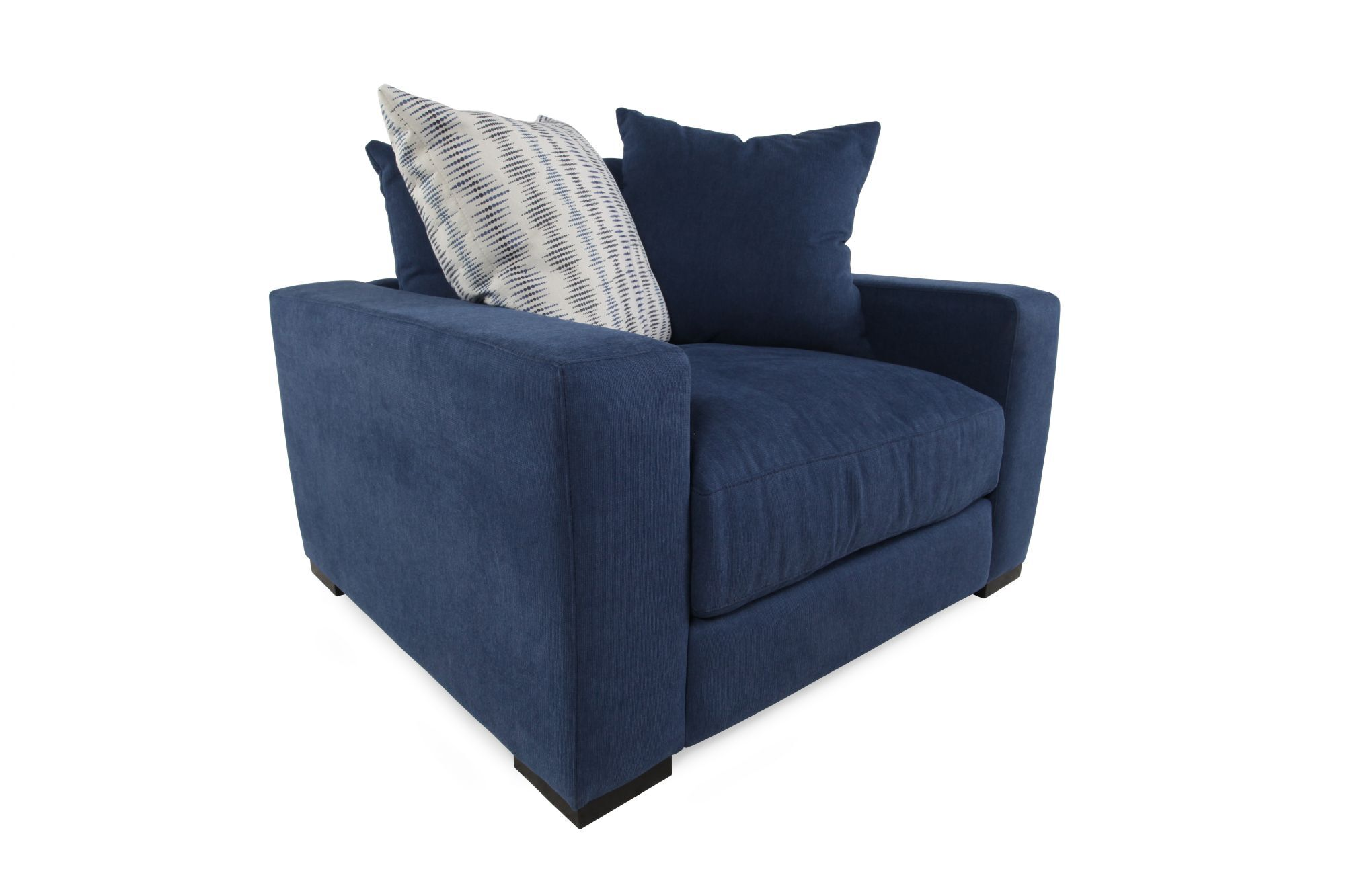LowProfile Casual Arm Chair in Blue  Mathis Brothers
