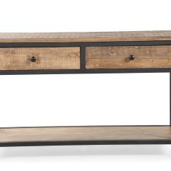 Country Cote Sofa Table De Texas Sectional Two Drawer In Weathered Barley Mathis