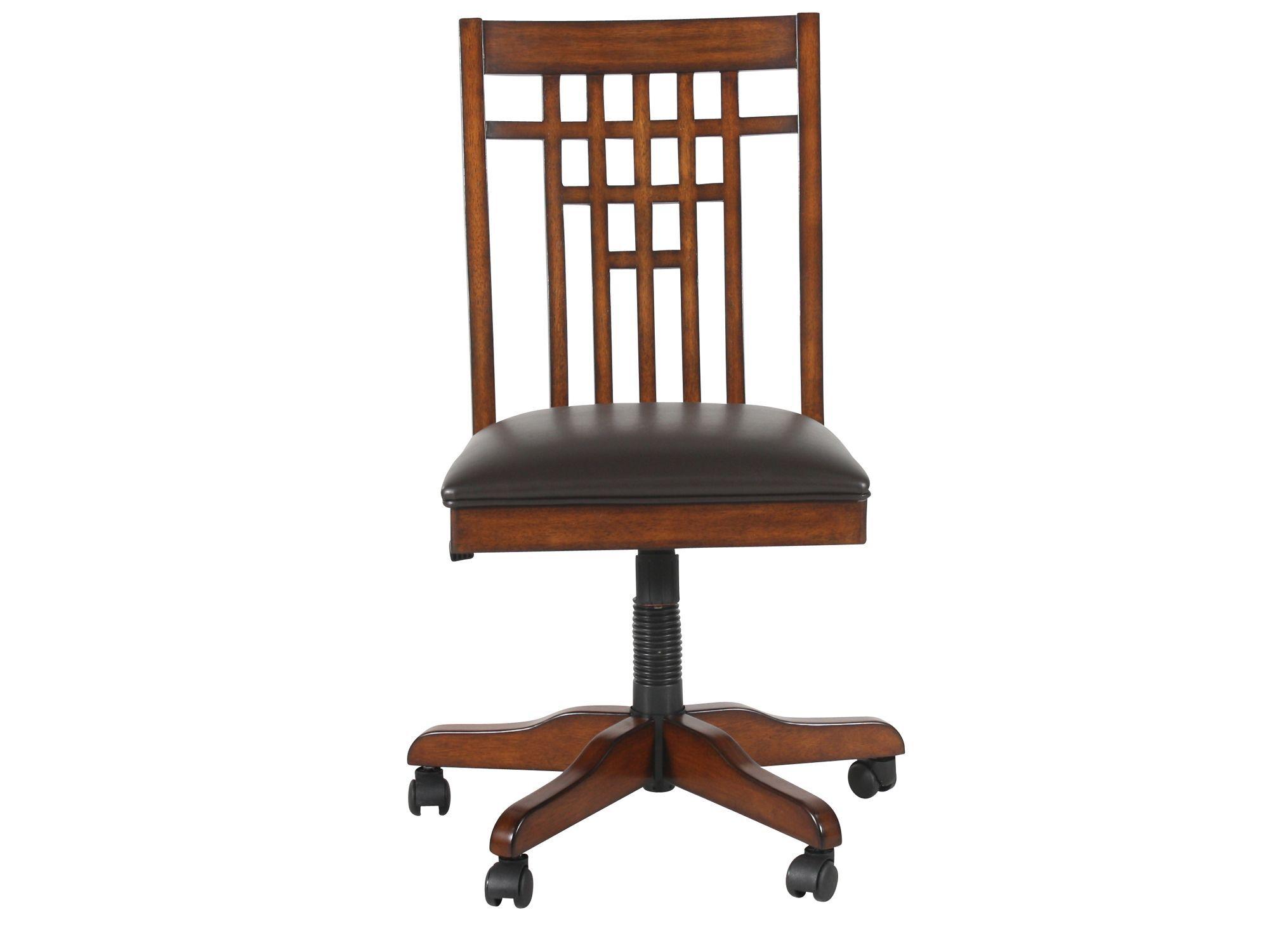 zahara swivel chair captains gym machine spladder back tilt office in medium oak | mathis brothers furniture
