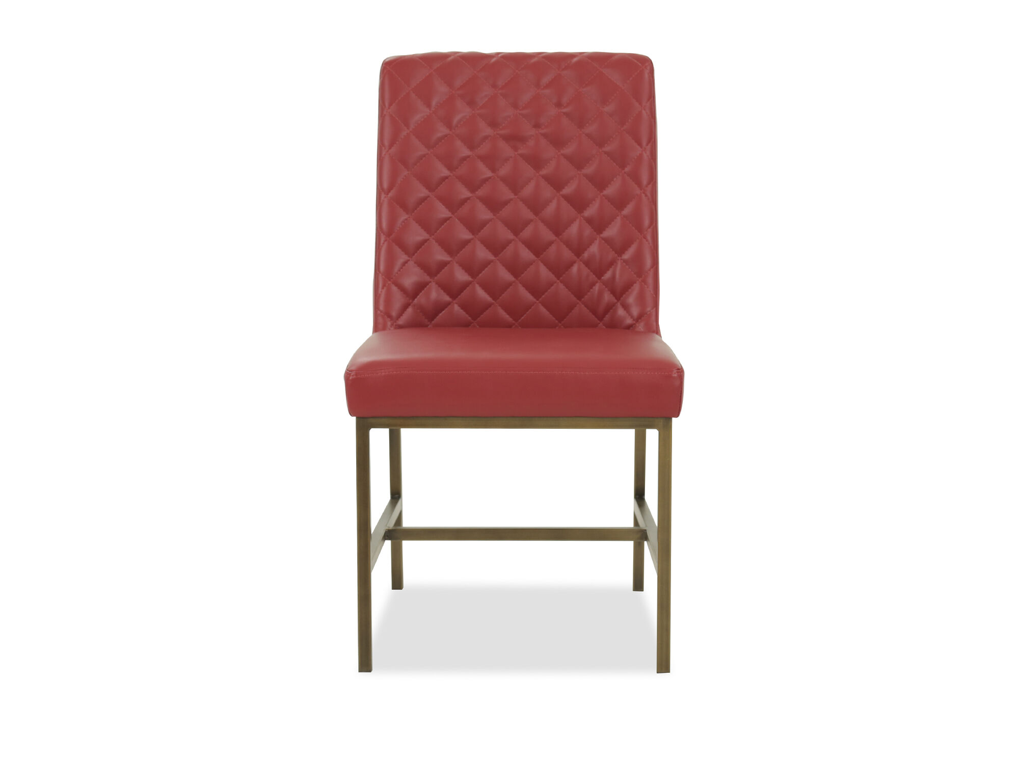 red tufted dining chair compact camp modern 20 quot in mathis brothers