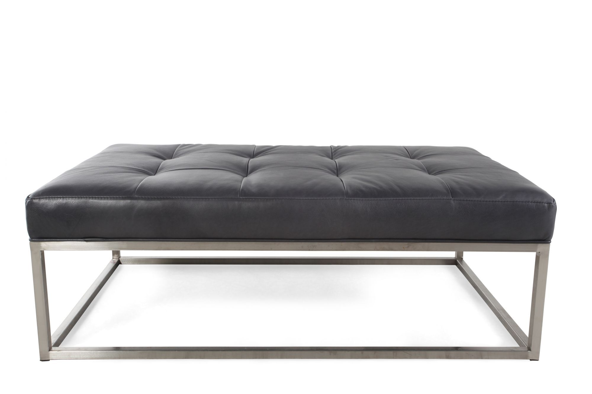 tufted contemporary 31 leather ottoman