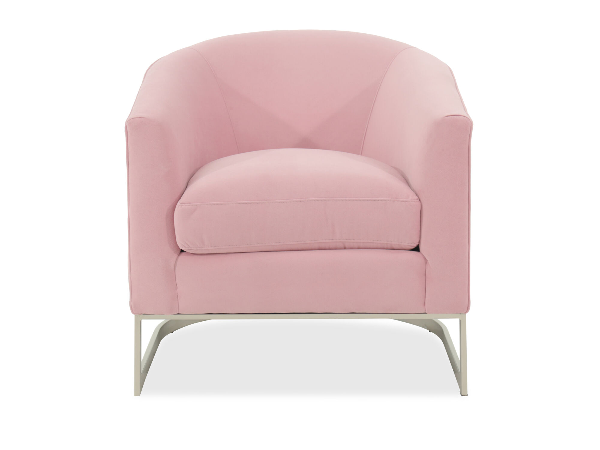 home decor accent chairs wheelchair express mid century modern 31 quot chair in pink mathis