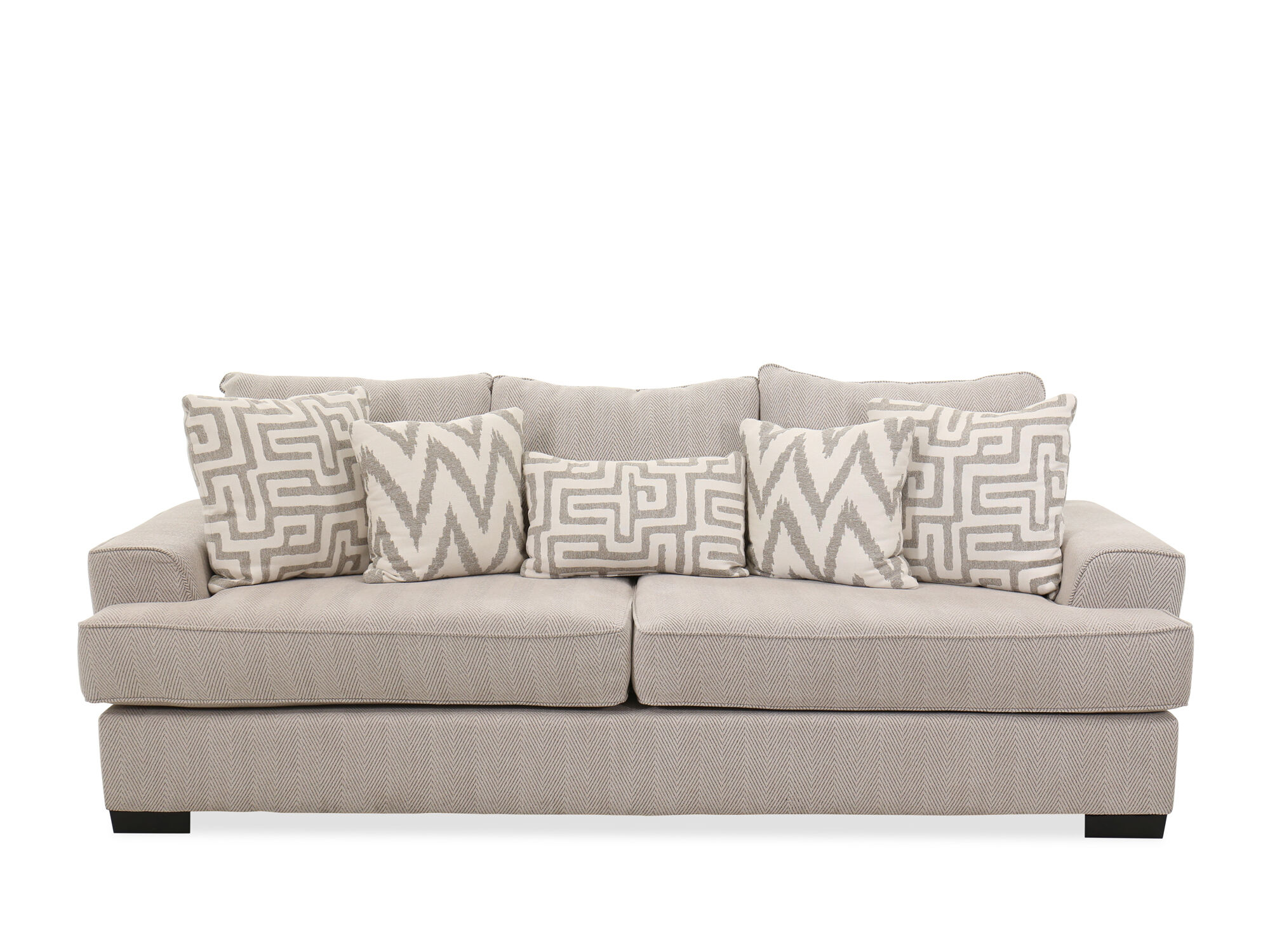images contemporary textured 101 quot sofa in greige