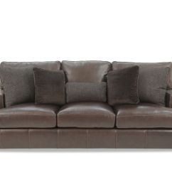 Tindall 96 Leather Sofa Bed Quot In Brown Mathis Brothers Furniture