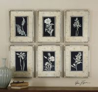 Six-Piece Floral Printed Framed Wall Art Set | Mathis ...