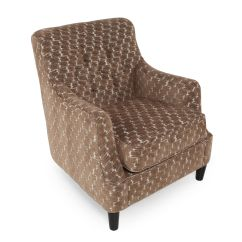 Home Decor Accent Chairs Outdoor With Ottomans Button Tufted Microfiber 31 Quot Chair In Cocoa
